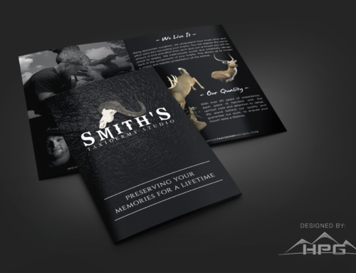 Smith's Taxidermy bi-fold brochure